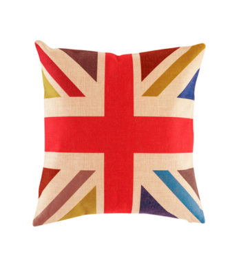 Pink Black And Oatmeal Union Jack Cushion